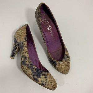 Jeffrey Campbell Ibiza Snake Cone heels sz 7 Lane